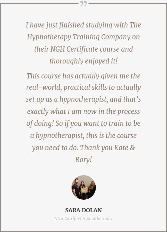 hypnotc review testimonial hypnotherapy training sara dolan