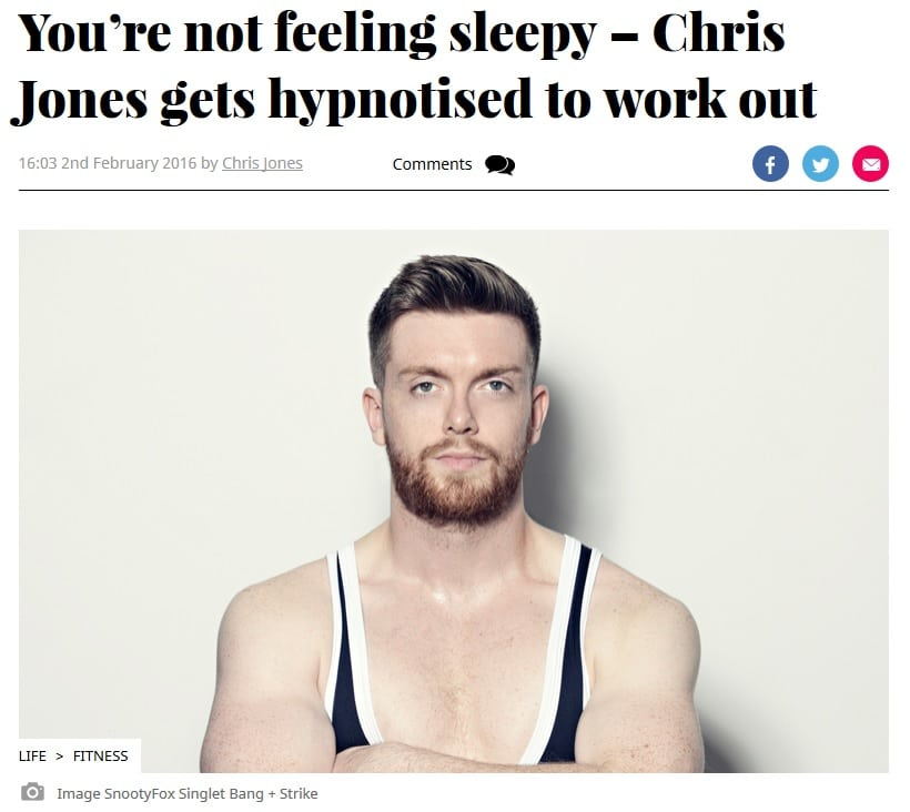 hypnotherapy for gym bodybuilder weightlifting