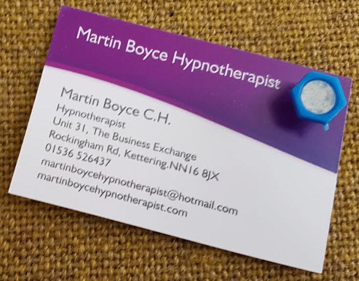 martin boyce business card qualified hypnotherapist hypnotc