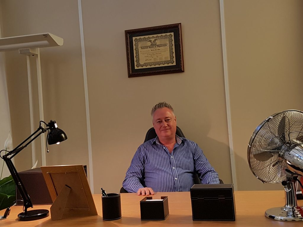 Martin Boyce Hypnotherapy Office professional hypnotherapy qualification training