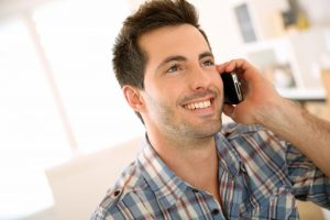 man on telephone talking individual hypnotherapy clinical supervision