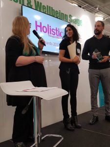 Holistic therapist magazine Holistic Business Awards 2nd place hypnotc hypnotherapy training company 2017 winner dr kate beaven marks
