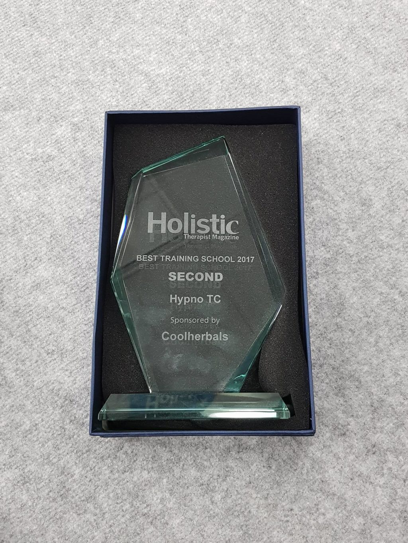 Holistic therapist magazine Holistic Business Awards 2nd place hypnotc hypnotherapy training company 2017 winner