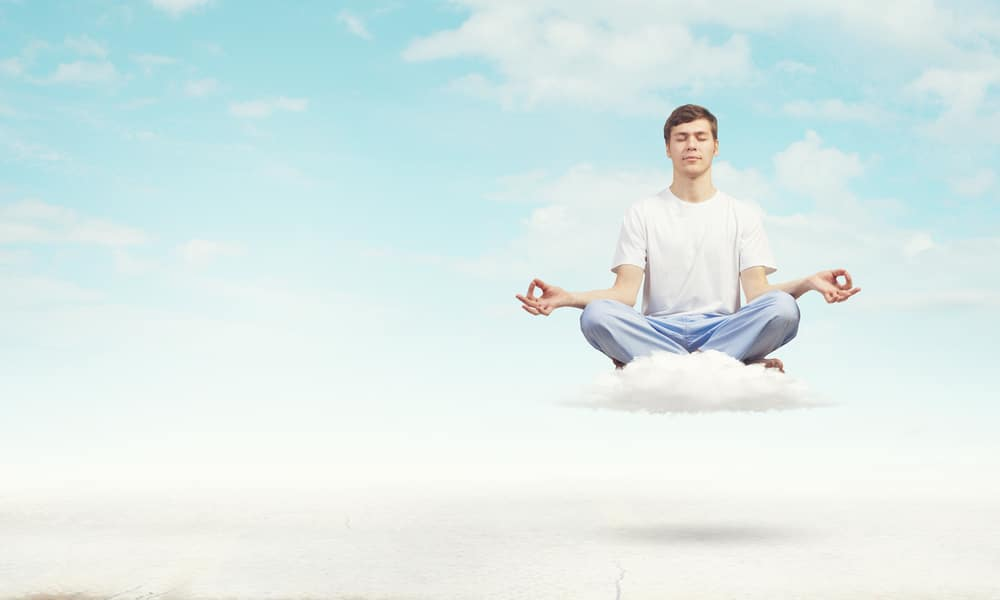 meditate yoga cloud sky relax weird resilience mindfulness hypnotherapy hypnotherapist