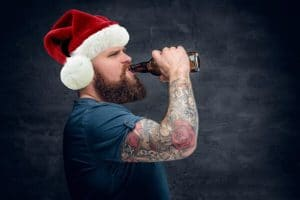drinking alcohol beer man tattoo angry christmas xmas stress free hypnotherapy hypnosis tips