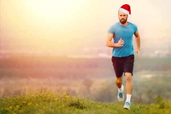 exercise man running christmas xmas destress stress free holiday hypnosis hypnotherapy