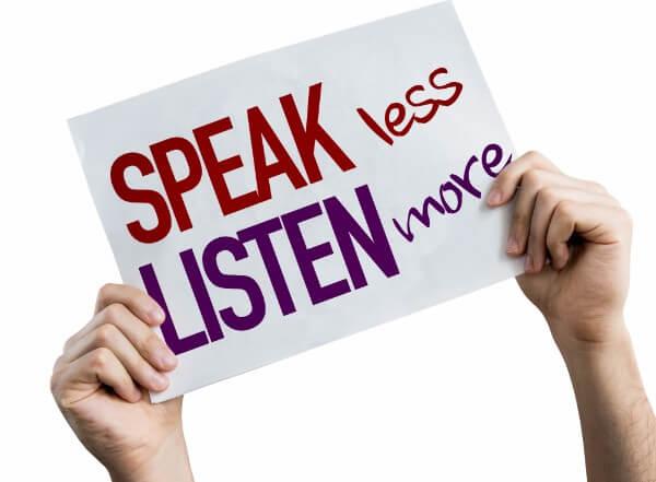 speak listen active listening rapport
