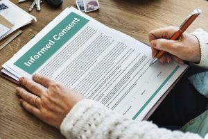 informed consent contract and hypnotherapy