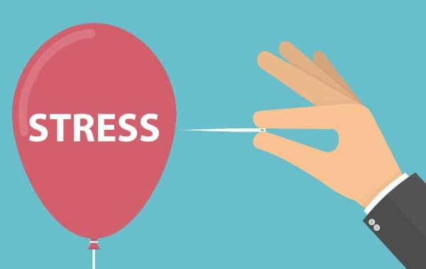 stress pop balloon pin hand cartoon background wellbeing in the workplace hypnotherapist hypnotherapy talking therapist