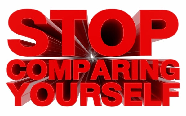 self-worth stop comparing yourself word