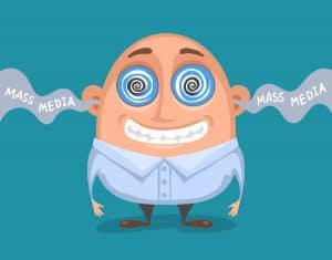 stage hypnosis vs hypnotherapy hypnotised media eyes cartoon man