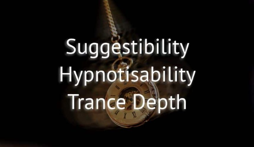 Hypnosis testing Suggestibility, hypnotisability and trance depth testing