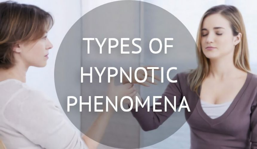 Types of hypnotic phenomena